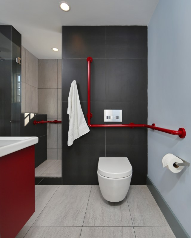 Brilliant Bathroom Ideas Red And Black Wall Art Relax Soak Unwind