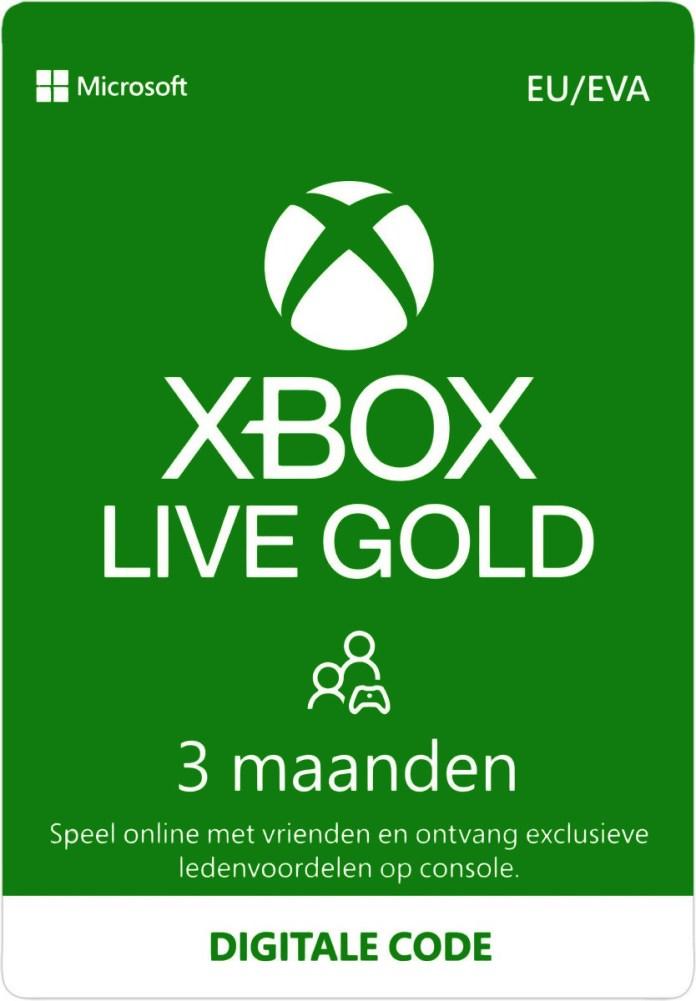 Xbox Live 3 Maanden Gold Membership Eurozone Digital Code