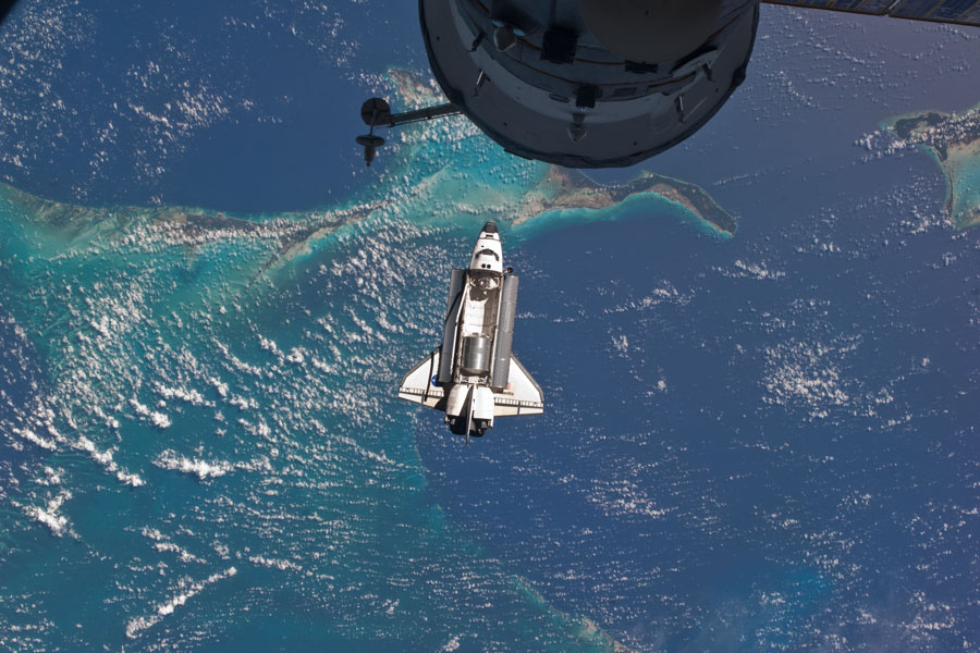 Space Shuttle docking at the International Space Station