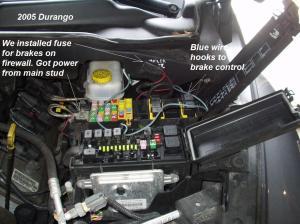 2005 Hemi Dodge Durango Trailer Brake Controller Install