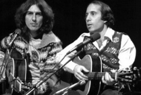 George Harrison and Paul Simon