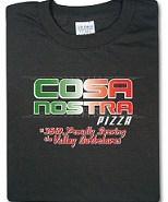 Cosa Nostra Pizza T-shirt from ThinkGeek