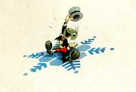 Jiminy Cricket Christmas Card