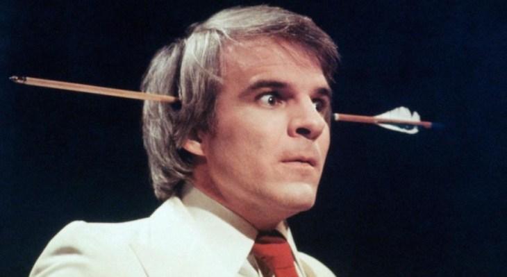 Steve Martin and arrow
