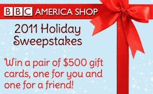 BBC America Shop 2011 Holiday Sweepstakes