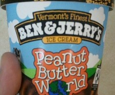 Ben and Jerrys Peanut Butter World Ice Cream