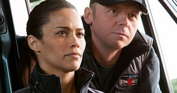 Paula Patton and Simon Pegg from Mission: Impossible: Ghost Protocol