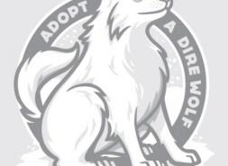 Adopt a Direwolf T-shirt from Threadless