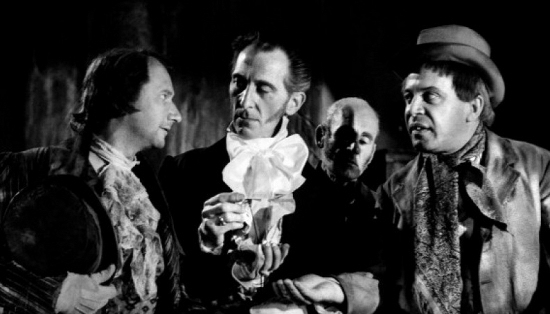 Flesh and the Fiends, with Donald Pleasence, Peter Cushing and George Rose