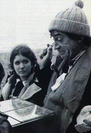 Patrick Troughton from Doctor Who, wearing toboggan