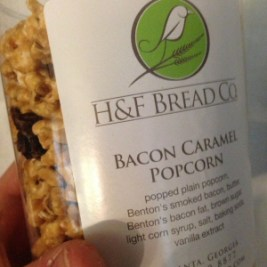 Bacon Caramel Popcorn by H and F Bread Company