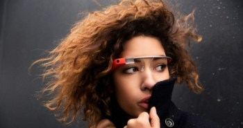 Model Wearing Google Glass