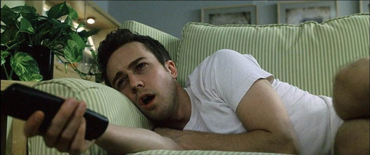 Edward Norton, sleepless in Fight Club