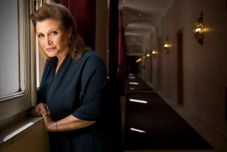 Portrait of the Actress Carrie Fisher member of the jury in the 70 Edition of Venice International Film Festival 2013 by Riccardo Ghilardi