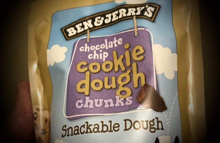 Ben and Jerrys Chocolate Chip Cookie Dough Chunks Snackable Dough