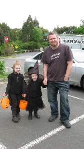 Dad at Halloween in Belgrave