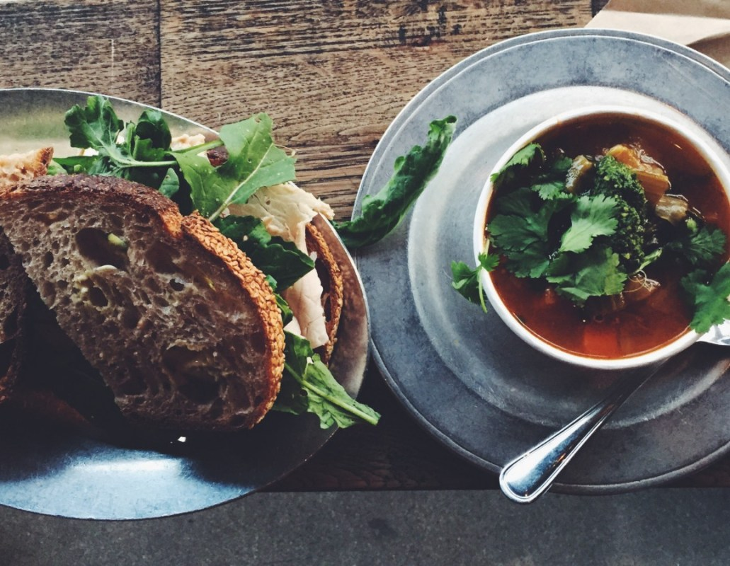GTA's Turkey Sandwich & Chicken Escarole Soup