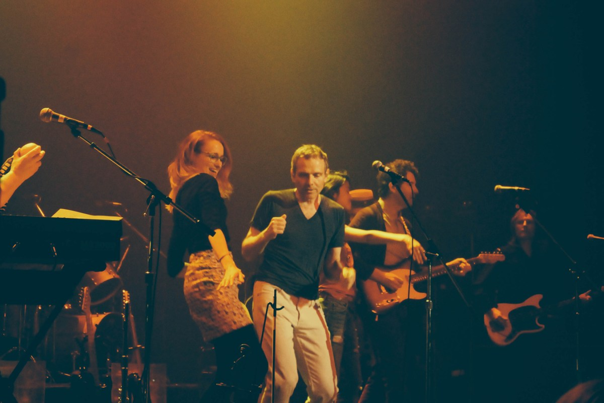 Belle & Sebastian get down with two lucky fans picked from the crowd