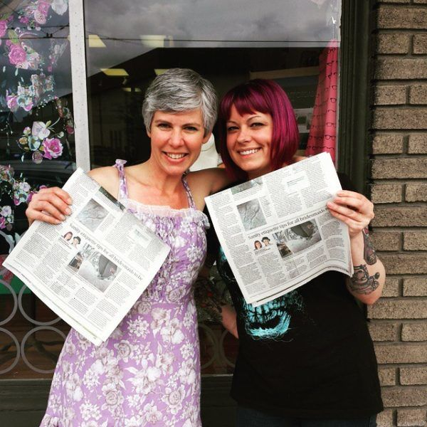 Our first article for the Dayton Daily (Left)Tracy McElfresh (Right) Jesy Anderson