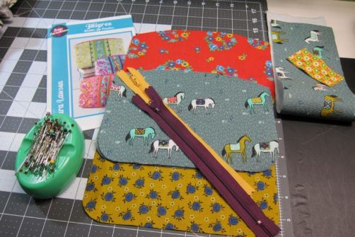 Cut out pattern and attached interfacing