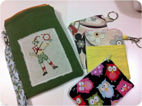 Lined Pencil Bag with Zip
