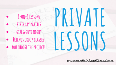 Private Lessons - sewing lesson, sewing classes