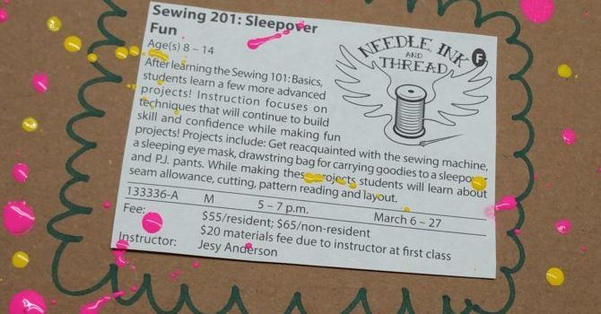 learn to sew at rosewood