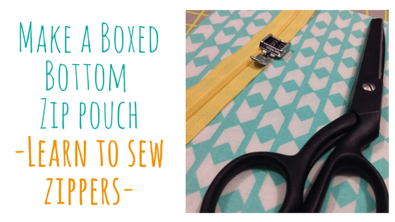 Learn to Sew Zippers! Make a boxed bottom zip pouch! @ Needle, Ink and Thread | Beavercreek | Ohio | United States