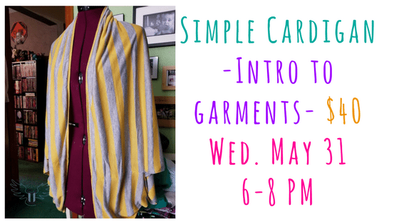Simple Cardigan - Intro To Garment Construction @ Needle, Ink and Thread | Beavercreek | Ohio | United States