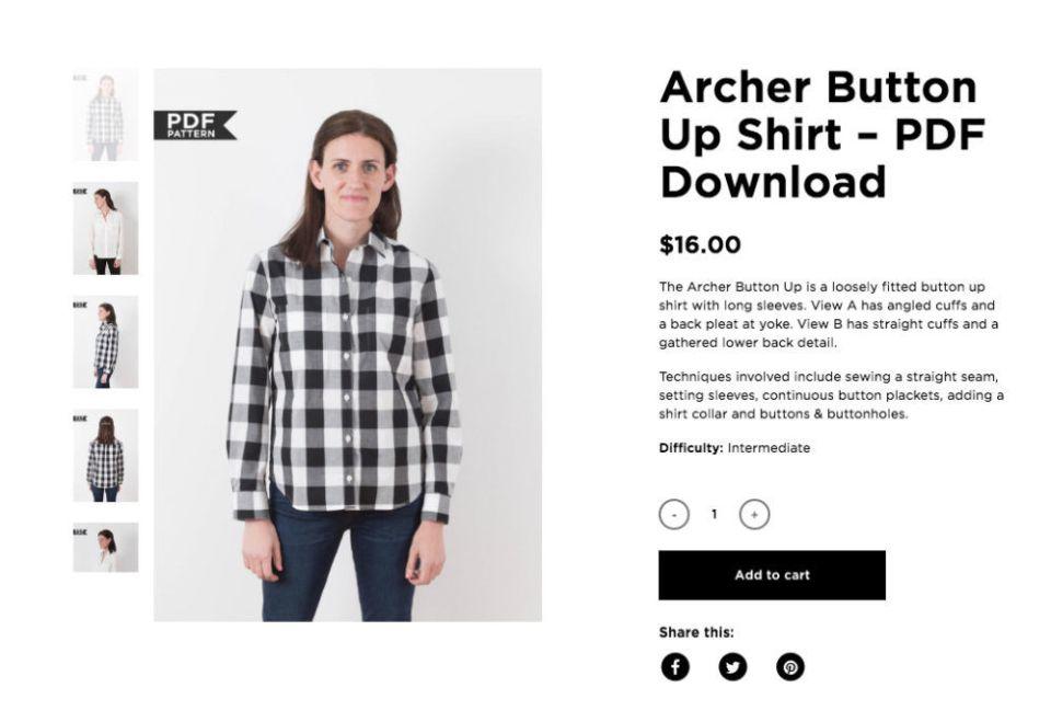 Archer Button up is a staple fall garment