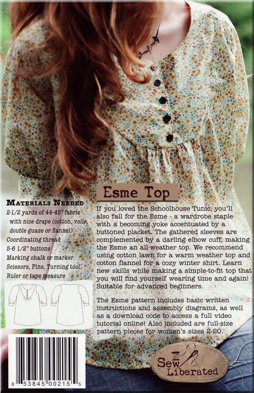 The Esme Top - Sew Liberated - No. 116 - Paper Pattern