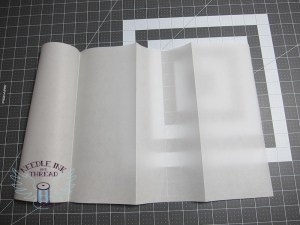 tracing paper in fourths