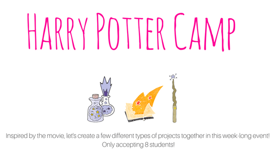 Harry Potter Inspired Camp - July 16-20th 10 am-1:30 pm daily! Experience the magic of Art!
