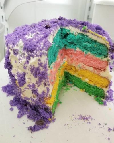 Baking a cak