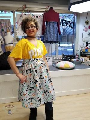 teens sewing fashion