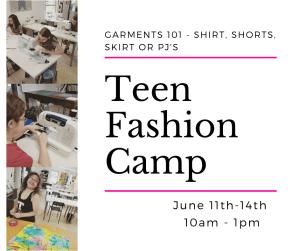 fashion camp for teens