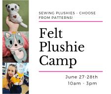 felt plushie camp