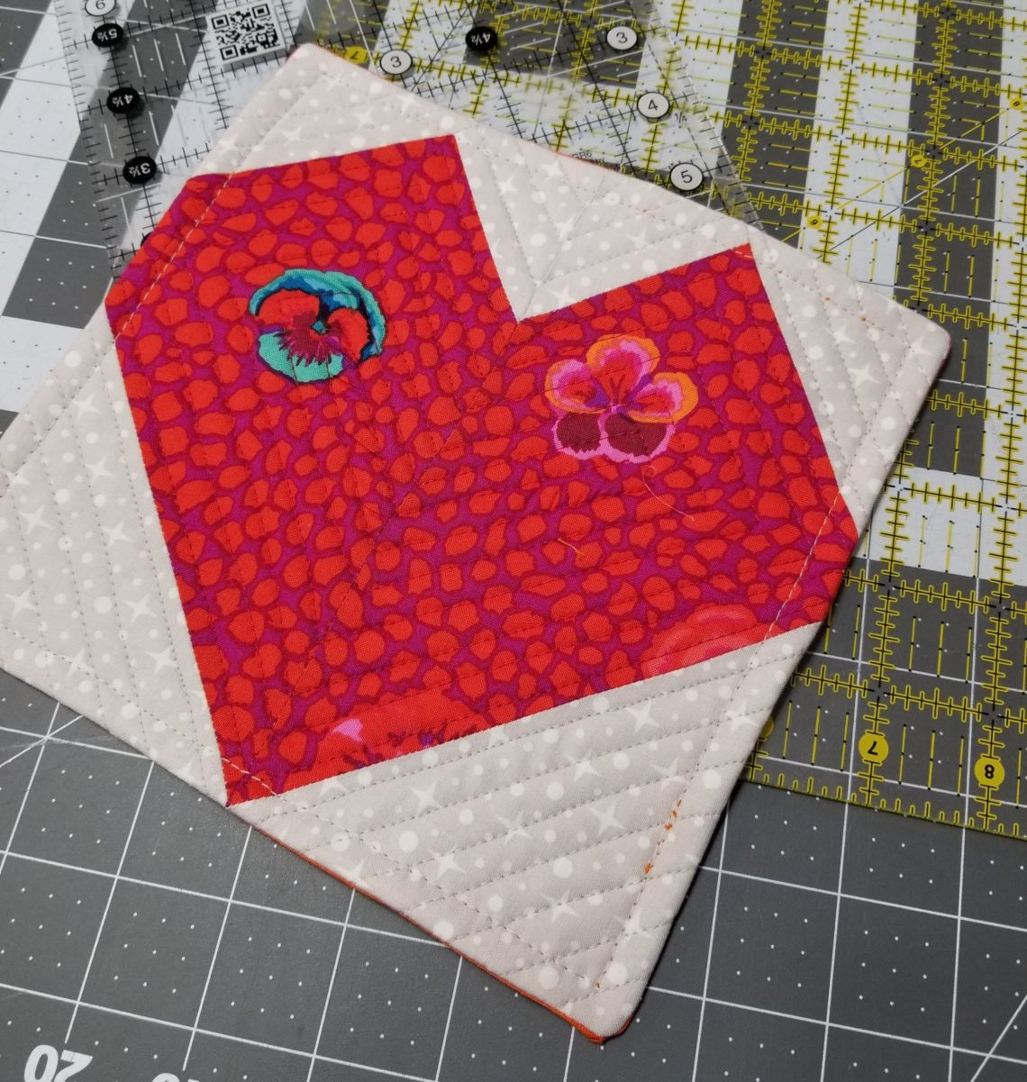 Valentines Day Sewing Mug Rug