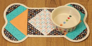 Quilt As You Go Pet Placemat Dogs # JT-1438