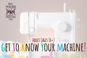 now your sewing machine