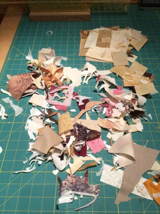 Fussy cutting scraps