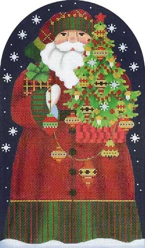 Melissa Shirley Designs Red Bird Santa Dome Needle Nook