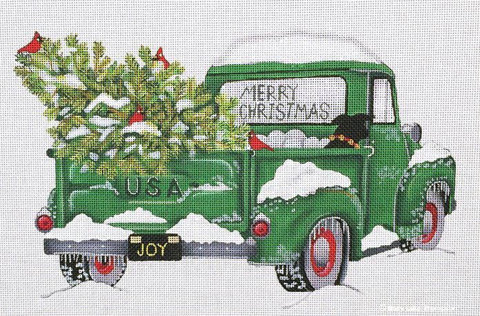 Melissa Shirley Designs Merry Christmas Truck Needle Nook