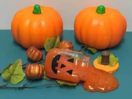 Jack-o-Lantern Slime Pumpkin Jar - Completed
