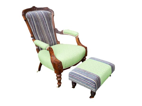 Granny Smith Chair & matching footstool