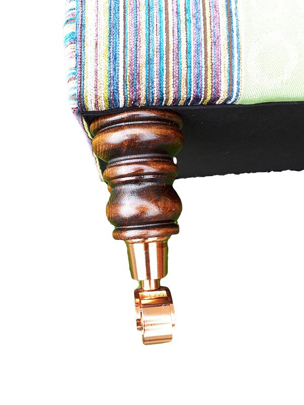 Close up of stool leg