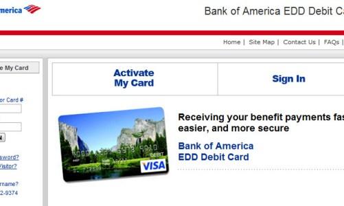Bank of America edd – CARD ONLINE ACTIVATION