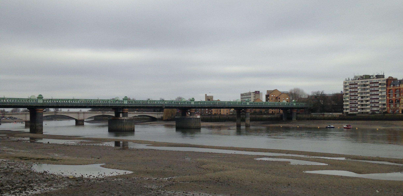 bridge at low tide