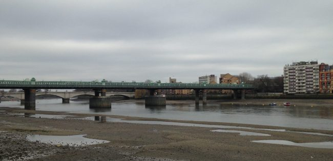 bridge at low tide