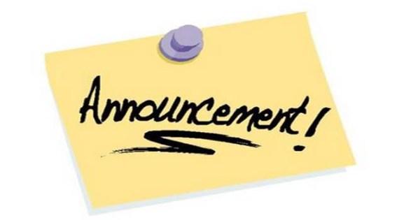 Announcement resmi dan lengkap